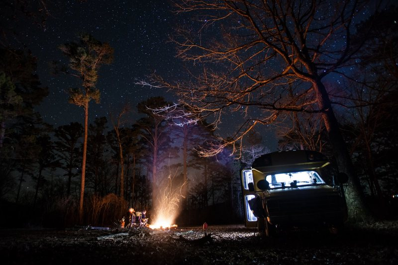 The camp at night. Great place to gather.