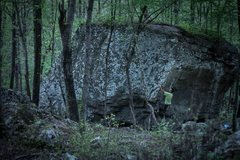Rock Climbing Photo: A spring attempt of the friction dependent problem...