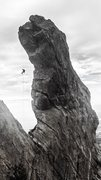 Rock Climbing Photo: Awesome view of the free-rap from the summit, 11/0...
