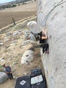 Rock Climbing Photo: Sending on TR