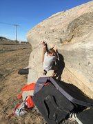 Rock Climbing Photo: The traverse v2 ish