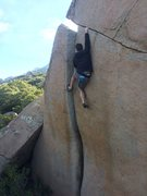 Rock Climbing Photo: Karl sending in pure Woodson style.