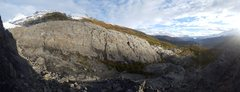 Rock Climbing Photo: Panorama of the Sunny Side Crag from the approach ...