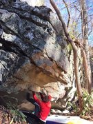 "Rock Climbing Photo: Carter Smith posted up at the start to ""Pug L..."