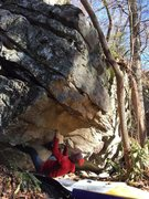Rock Climbing Photo: Carter Smith one move off the start on Pug Life