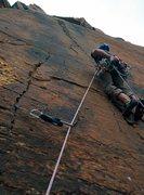 Rock Climbing Photo: Z. Harrison on the FA. Pitch 3