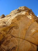 Rock Climbing Photo: Jason leading Tranquility with a variation through...