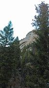 Rock Climbing Photo: Looking back after climbing up Ramblin' Rose.