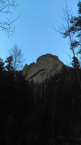 Rock Climbing Photo: Last light on Wigwam.