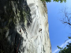 Rock Climbing Photo: Rowins Route (Remember Appomattox)