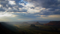 Rock Climbing Photo: Evening light in Castle Valley, from the Porcupine...