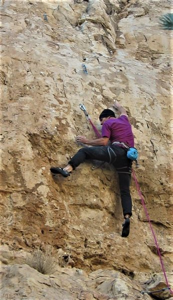 Rock Climbing Photo: I've been a bad, bad boy, Father.  Clearing th...