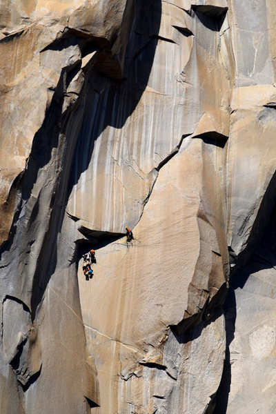 Awesome climbing up in the Taft Granite on El Cap.