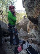 Rock Climbing Photo: Gearing up for a Conn Classic