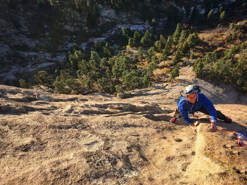 Rock Climbing Photo: Near the end