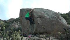 Rock Climbing Photo: Boulder with a flake.