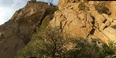 Rock Climbing Photo: A wide view of the area, showing the start of the ...