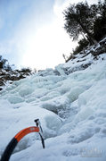 Rock Climbing Photo: Top of the falls in typical mid-December condition...