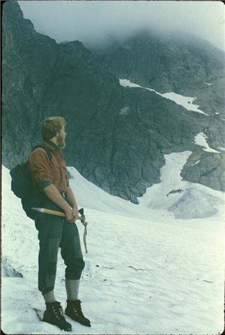 Rock Climbing Photo: On Lower Curtis Glacier in 8/80 (no that's not...