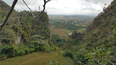 Rock Climbing Photo: Beautiful view from the top of Punta Repaso wall.