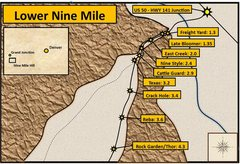 Rock Climbing Photo: Lower Nine Mile Hill. Distances were measured from...