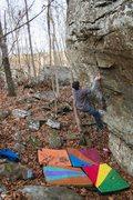Rock Climbing Photo: Zane trying gun control
