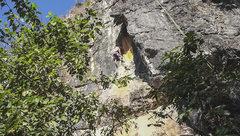 Rock Climbing Photo: FA of Monet's Rising Sun