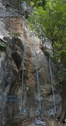 Rock Climbing Photo: 'Sensei' is number 7 on the Karaweik Wall ...