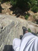 Rock Climbing Photo: Halfway
