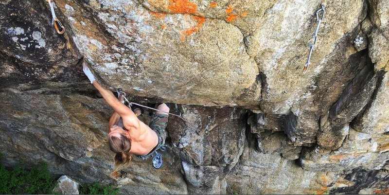 Rock Climbing Photo: Van Damage in Boulder Canyon