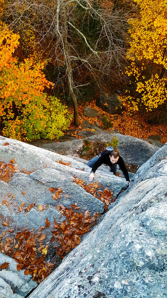 Soloing up on an awesome Autumn day.