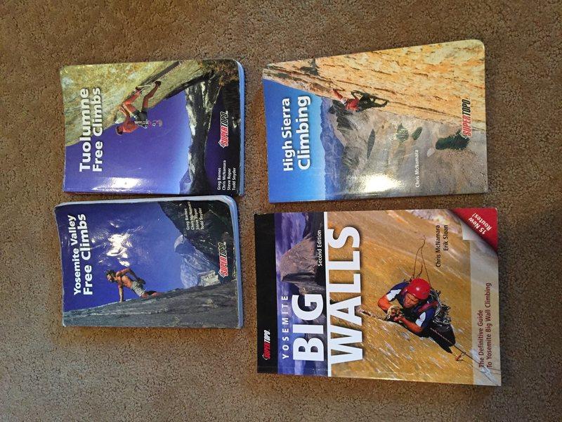 Rock Climbing Photo: Sierra Guidebooks
