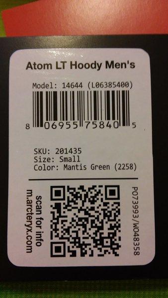 Atom LT Hoody Tag