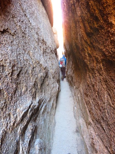 Rock Climbing Photo: Slot at the entrance to Conan's Corridor.