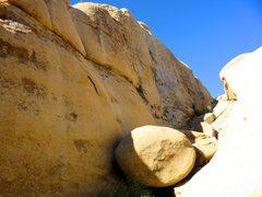 Rock Climbing Photo: Looking up Conan's Corridor.