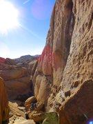 Rock Climbing Photo: Looking down Conan's Corridor.