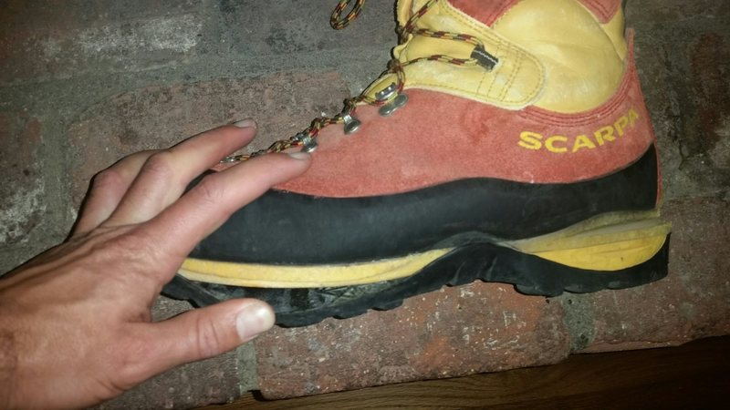 Rock Climbing Photo: Boot sole