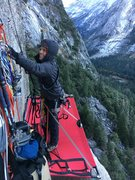 Rock Climbing Photo: Hanging out somewhere on The Prow, Washington'...