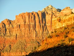 Rock Climbing Photo: Afternoon light on Kinesava's south face, as s...