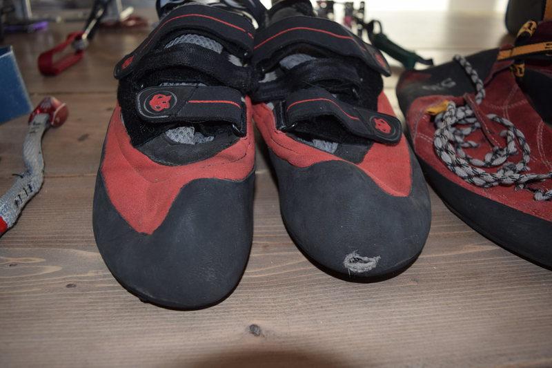 Evolv Bandits--Left big toe blown through, otherwise in pretty decent shape