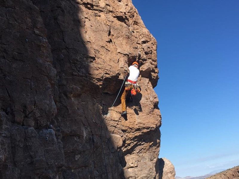 Rock Climbing Photo: At the Crux of Under the Bull.