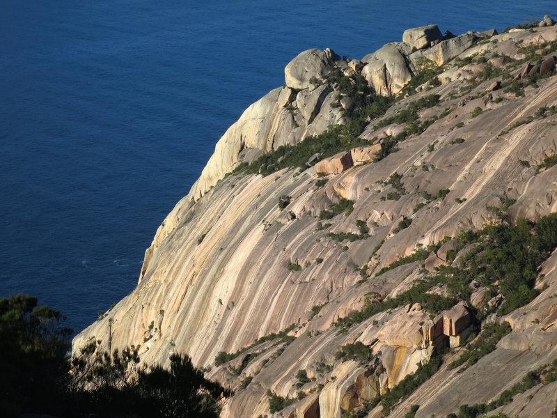 Rock Climbing Photo: Flowstone Wall.