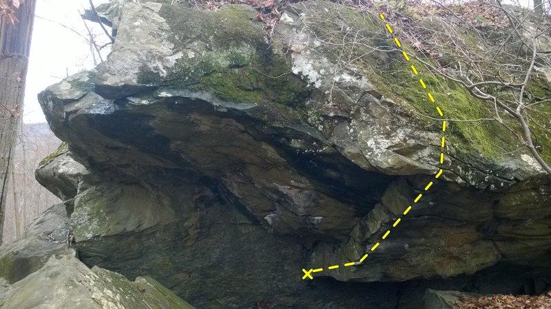 Rock Climbing Photo: Dab Sit Sit (Jonah Boulder)
