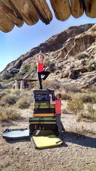 Rock Climbing Photo: yoga