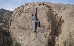 Rock Climbing Photo: Rob Mulligan on the FA of The Rosetta Stone