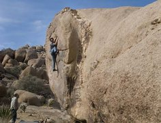 Rock Climbing Photo: Rob entering the very spicy crux of The Rosetta St...