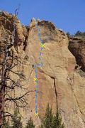 Rock Climbing Photo: Leading the forth pitch of Zion
