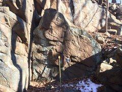 Rock Climbing Photo: Nice overhanging face.