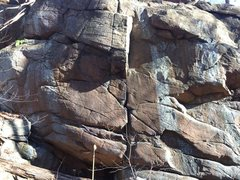 Rock Climbing Photo: Close up of the small cliff.