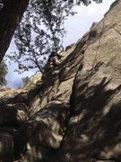 Rock Climbing Photo: Kevin near the bottom.